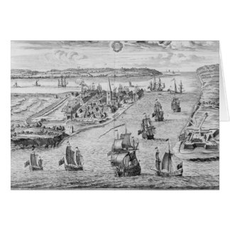 A Prospect of the Towne and Harbour of Harwich Greeting Card
