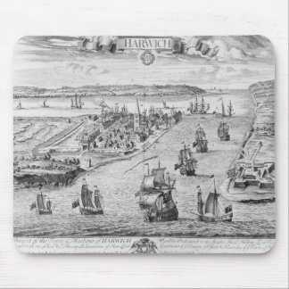 A Prospect of the Towne and Harbour of Harwich Mouse Mat