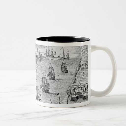 A Prospect of the Towne and Harbour of Harwich Mug