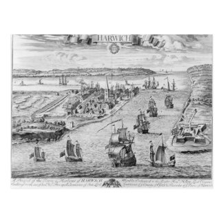 A Prospect of the Towne and Harbour of Harwich Postcard