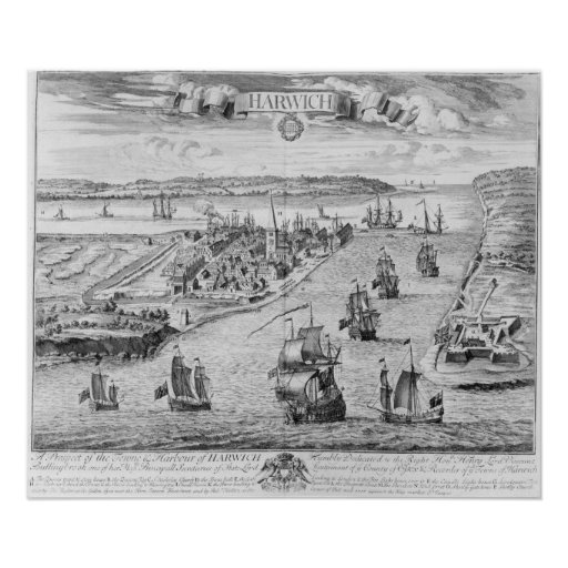 A Prospect of the Towne and Harbour of Harwich Posters