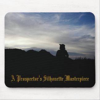 A Prospector s Silhouette Masterpiece Mousepads