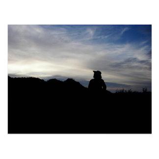 A Prospector's Silhouette Postcard
