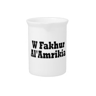 A Proud American Drink Pitcher
