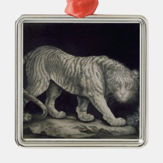 A Prowling Tiger (pencil on paper) Christmas Ornament