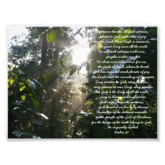 A Psalm of Praise. Psalm 47 Christian Card Photograph