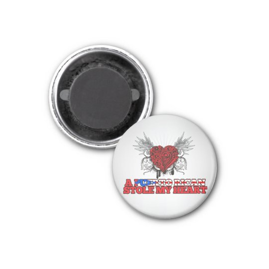 A Puerto Rican Stole my Heart 3 Cm Round Magnet