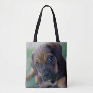 A Pug Cross Beagle Puppy (Puggle) Tote Bag