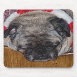 A Pug Dog's Christmas Mousepad