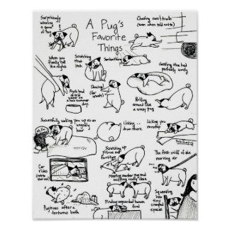 A Pug s Favorite Things Part II Posters
