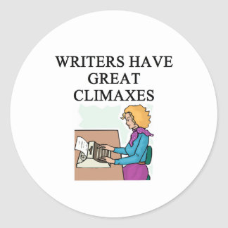 a pun for writers sticker