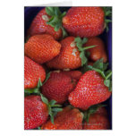 a punnet of ripe fresh strawberries for sale in card