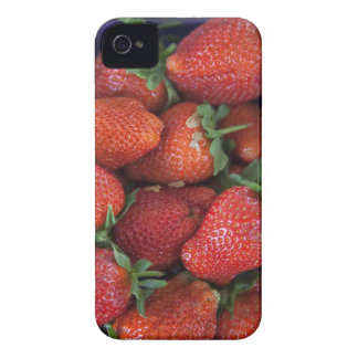 a punnet of ripe fresh strawberries for sale in iPhone 4 case