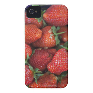 a punnet of ripe fresh strawberries for sale in iPhone 4 cover
