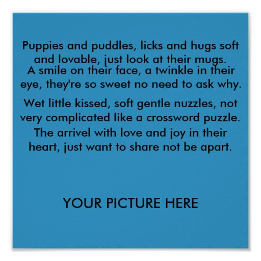 A puppy poem posters