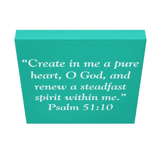 """A Pure Heart"" 12 x 12 Scripture Wrapped"