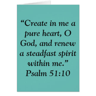 """""""A Pure Heart"""" Scripture Greeting Card"""
