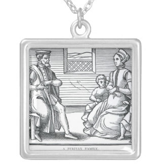 A Puritan Family Silver Plated Necklace