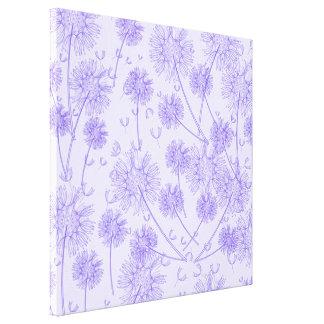 A Purple Dandelion Gallery Wrap Canvas