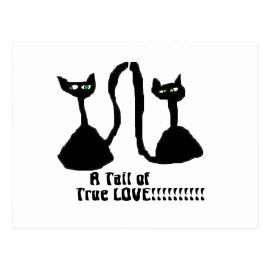 A purrfect Love Cat Postcard