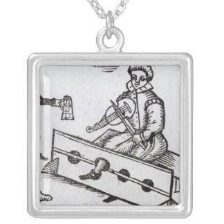 A Purse Snatcher in the Stocks Silver Plated Necklace
