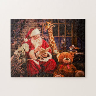 A Puzzle, Santa Claus with Stuffed Aninals Puzzle