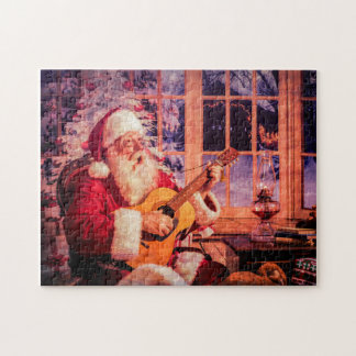 A Puzzle, Santa singing a carol Jigsaw Puzzle