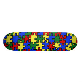 A Puzzle Skateboard