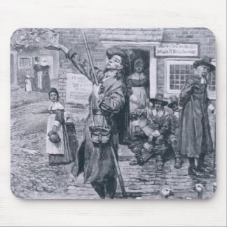 A Quaker Exhorter in New England Mouse Mat