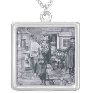 A Quaker Exhorter in New England Silver Plated Necklace