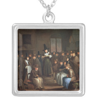 A Quakers Meeting Silver Plated Necklace