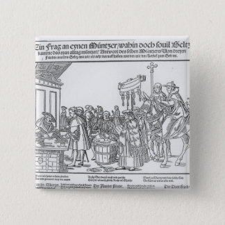 A Question to a Mintmaker, c.1500 15 Cm Square Badge