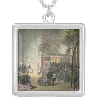 A Queue at the Theatre de l'Ambigu-Comique Silver Plated Necklace