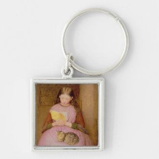 A Quiet Moment Silver-Colored Square Key Ring