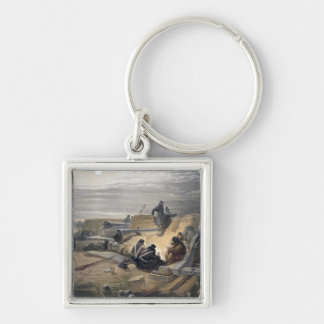A Quiet Night in the Batteries, plate from 'The Se Silver-Colored Square Key Ring