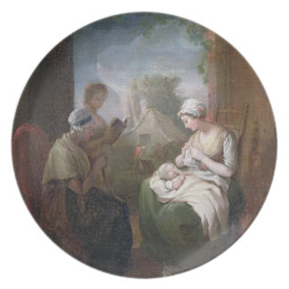 A Quiet Time, c.1810 (oil on canvas) Party Plates