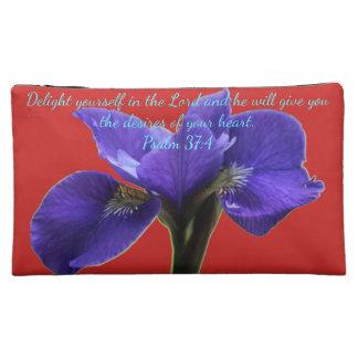 A&R Royal Iris A~Heart Cosmetic Bag