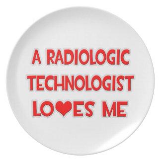 A Radiologic Technologist Loves Me Dinner Plate