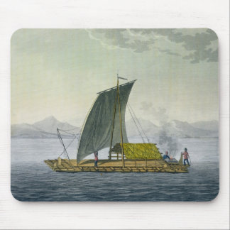 A raft leaving the port of Guayaquil, Ecuador, fro Mouse Mat
