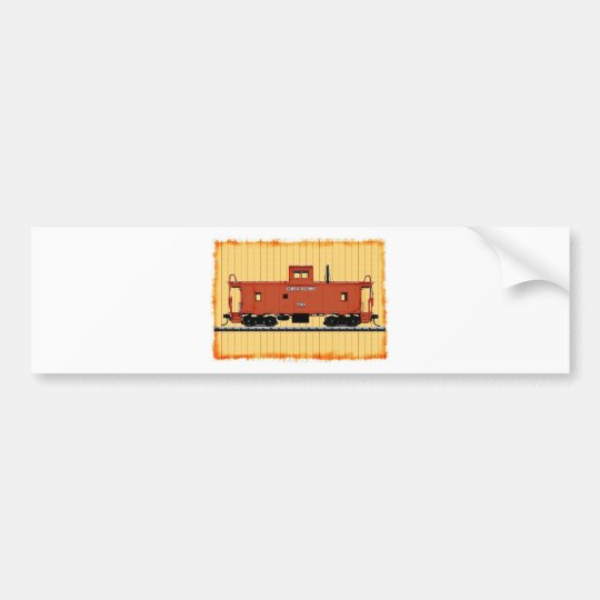 A Railroad Caboose Bumper Sticker