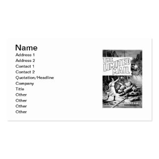 A Railroad Play -The Limited Mail 1899 Double-Sided Standard Business Cards (Pack Of 100)