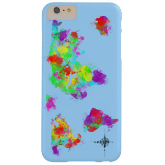 A Rainbow Colored World Map Graphic Barely There iPhone 6 Plus Case
