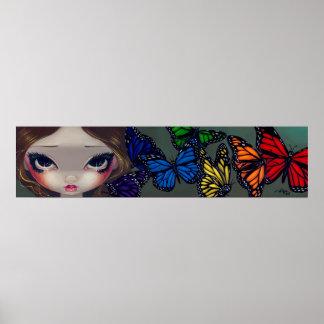 A Rainbow of Butterflies fairy Art Print