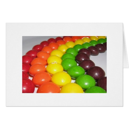 A Rainbow of Fruity Flavour  Greeting Card