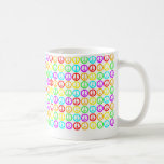 A Rainbow Of Peace Signs Basic White Mug
