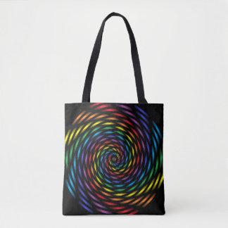 A Rainbow Pinwheel in Motion Tote Bag