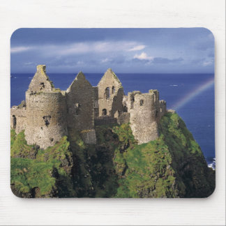 A rainbow strikes medieval Dunluce Castle on Mouse Mat