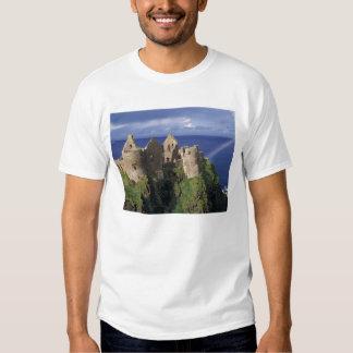 A rainbow strikes medieval Dunluce Castle on Tshirts