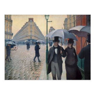 A Rainy Day in Paris by Gustave Caillebotte Postcard
