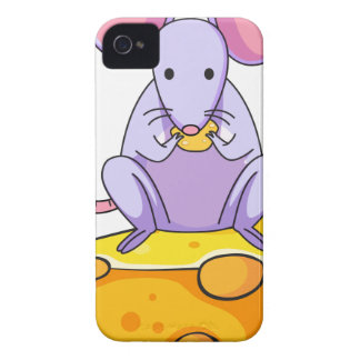 A rat eating above the big slice of cheese Case-Mate iPhone 4 cases